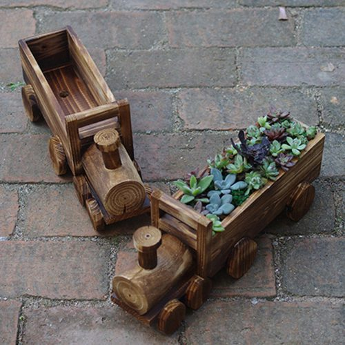 flowerpot planter small train for Garden decoration