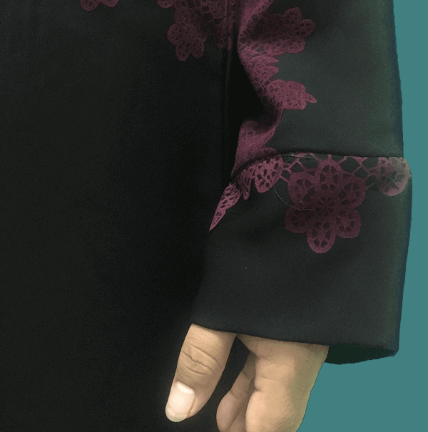 abaya latest style with red design in Pakistan