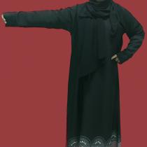 abaya islamic black bottom latest design