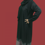 abaya islamic black bottom latest design