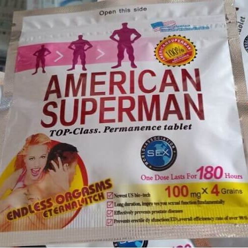American superman pills in Pakistan