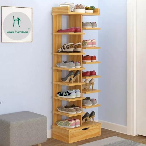 Shoes rack pure wood tower type in Pakistan