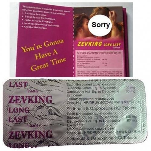 Zevking Long Lost Dapoxetine and Sildenafil Citrate Pills in Pakistan