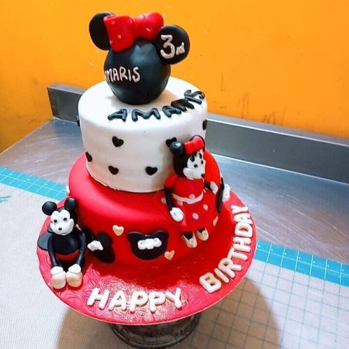 Birthday animated cake latest cartoon style design in Lahore