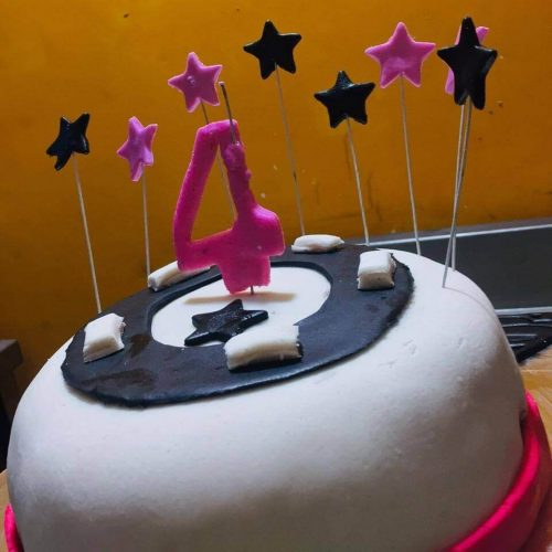 Happy Birthday Cake With Year Digit and Stars