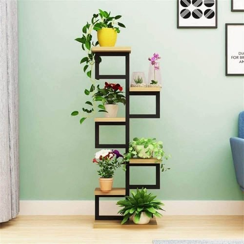 Indoor matel iron plant stand tower type