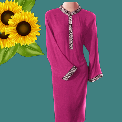 full sleeve top purple female fashion casual dress