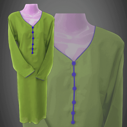 women's Casual Green Dress Shirt for Ladies clothing